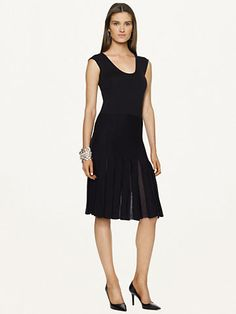 Pleated Wool Dress - Short Dresses  Dresses - RalphLauren.com