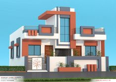 2bhk House Plan, Model House Plan, House Elevation, Front Elevation, Front Wall Design, Villa Plan, Boundary Walls, Main Gate, Ground Floor