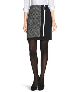 Tweed Mix Boot Skirt