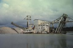"""Former Kaniere gold dredge - used to """"groan"""" all night."""