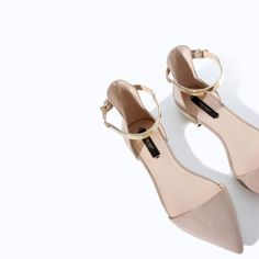 ZARA - WOMAN - POINTY SHOES WITH ANKLE STRAP