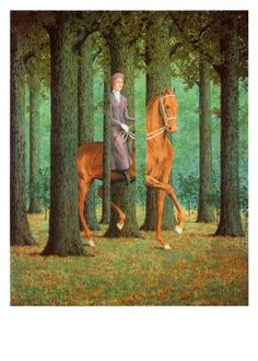 Humour: optical illusion, magritte
