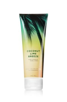 Coconut Lime Breeze - Triple Moisture Body Cream - Signature Collection - Bath & Body Works - Fortified with our exclusive Triple Moisture Complex of conditioning milk proteins, hydrating rice bran oil and protective acai berry extract, this velvety rich cream provides deep, 24-hour moisture to soften even the driest skin. Our emollient, yet non-greasy, formula deeply conditions, leaving skin moisturized, fragrant and more beautiful than ever before.