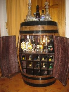c mo convertir un barril en un mueble bar diy home