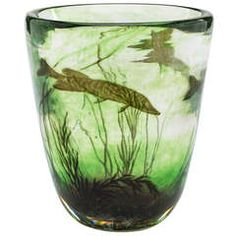 Fish Graal vase by Edwald Hald