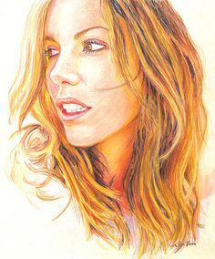 Realistic Colored Pencil Drawings | Realistic colored pencil portraits : celebrity And girls Sketches ...