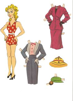 Miss Missy Paper Dolls: Blondie paper doll 1954