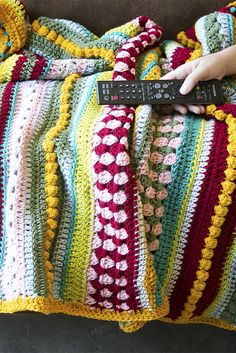 Colorful Throw Blankets Beauteous Popcorn And A Movie With A Colorful Throw Blanket  #1 Crochet Decorating Design