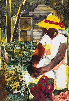 """The Magic Garden, 1978"" Romare Bearden."