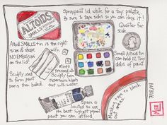 Altoid watercolor travel kit, how to.