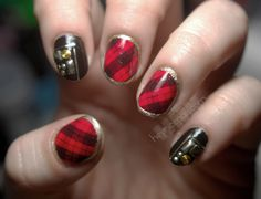 LOVE the plaid! from Hey, Nice Nails!