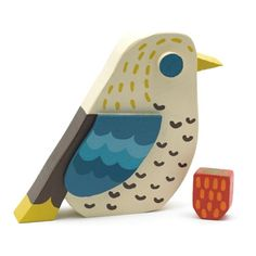 V Victoria Albert Museum > Main Section > Shop by theme > Spring/Summer 2012 > 'Strawberry Thief' Wooden Bird by Matt Sewell Animal Cutouts, Small Wood Projects, Cute Birds, Birds 2, Wood Bird, Little Birdie, Home And Deco, Craft Activities For Kids, Wood Toys