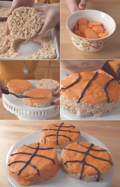March Madness basketball krispies