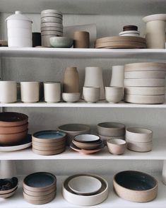 """Weekly shelfie. While I've been frantically finishing up orders and commissions, I've also been slowly stockpiling other pieces... (Some of these will be available at my pop-up at the Scottsdale @designwithinreach next Sunday, from 1-4pm. More info available on my website, under """"events"""")."""