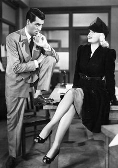 Cary Grant and Ginger Rogers in Once Upon a Honeymoon, 1941.