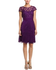 Adrianna Papell Eggplant Lace &  Perfect for the office Christmas party!