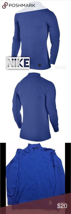 Nike Pro Combat Warm Fitted Mock - M Long sleeve game blue shirt in excellent used condition. Looks brand new. Nike Shirts Tees - Long Sleeve