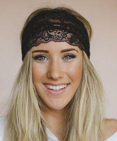 Another great find on #zulily! Black Sheer Lace Headband by Three Bird Nest #zulilyfinds