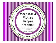 free This product is aligned with and used as an extension of bar picture graphs. The scales are in increments of Math Worksheets, Math Resources, Math Activities, Math Stations, Math Centers, Second Grade Math, Third Grade, Teaching Math, Math Teacher