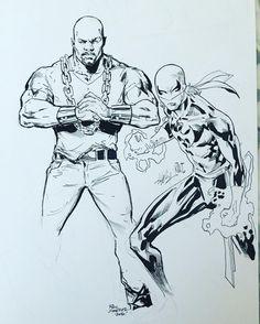 Power Man by Phil Jimenez and Iron Fist by Ken Lashley ! #powermanandironfist completed this weekend. #PowerMan by #philjimenez and #ironfist by #kenlashley @eastcoastcomicon #eastcoastcomiccon @ledkilla @philjimeneznyc