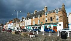 19 EPIC ROAD TRIPS THROUGH SCOTLAND  4. Crail → Elie (Fife, A917)  Drive southwest along the A917 and visit the fishing villages of the East Neuk of Fife. Don't miss the Anstruther Fish Bar down at the harbour, one of the best chippies in Scotland. Journey on to Pittenweem and St Monans, finishing up at Ship Inn in Elie, which overlooks the natural harbour.