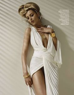 anja rubik, vogue russia - This would be a fabulous greek godess costume!!