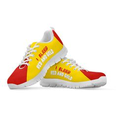 We think you will love you new 'I Bleed Red and ..., read more here: http://www.therealbigdeal.com.au/products/i-bleed-red-and-gold-sneakers?utm_campaign=social_autopilot&utm_source=pin&utm_medium=pin