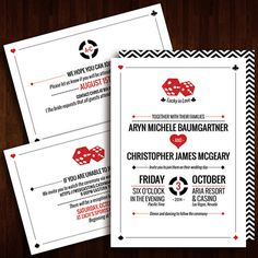 Stylish Las Vegas Wedding Invitation by JDavidProductions on Etsy