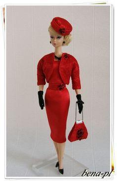 bena-pl Clothes for FR Victoire Roux, Silkstone & Vintage Barbie OOAK outfit