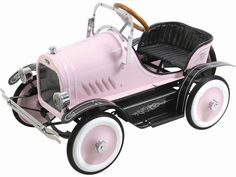 Kalee Deluxe Roadster Pedal Car Pink...this is so cute.  i like the plane that they put out.