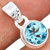 Blue Topaz 925 Sterling Silver Pendant Jewelry BLTP762