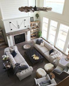 65 comfy modern farmhouse living room decor ideas and designs (52)