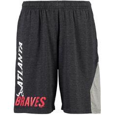 Atlanta Braves Concepts Sport National Knit Shorts - Charcoal