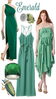 Prom 2012 will see lots of colourful dresses. Check out this emerald-inspired style board by canada.com.
