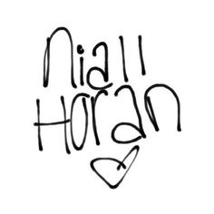 One Direction ❤ liked on Polyvore featuring one direction, words, fillers, niall horan, 1d, quotes, text, doodle, saying y scribble