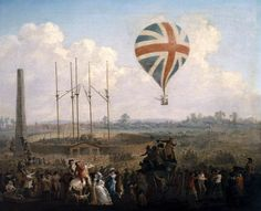 Lunardi's Second Balloon Ascending from St George's Fields, 1785 by Julius Caesar Ibbetson Science Museum, London Date painted: Oil on canvas, 52 x 62 cm Science Museum London, Dundee City, Glasgow Museum, Richmond Park, Saint George, Museum Exhibition, Art Uk, Victoria And Albert Museum, Museum Collection