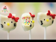 HELLO KITTY CAKE POPS | SIN HORNO Y FÁCIL - YouTube