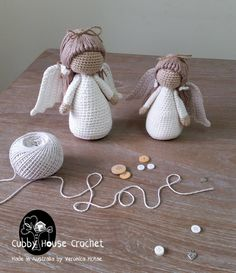 CROCHET ANGELS <3 These are Adorable! Get the pattern (affiliate) --> http://tidd.ly/7082f6da