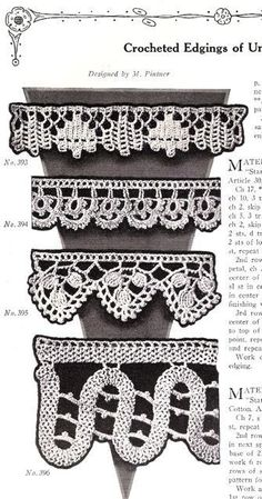 ResourceQueen has wonderful Vintage Fabric and Patterns, like this  Crochet Edgings - Vintage PDF ePattern from 1925 ($3.50)