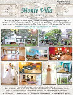 The Monte Villa Farmhouse for weddings!