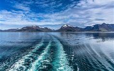 Lofoten, Norwegen, Meer, Berge, Himmel, Wolken Hintergrundbilder Bilder Fotos