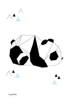 Best origami panda zeichnung 58 ideas - Game Tutorial and Ideas Panda Tattoos, Geometric Drawing, Geometric Art, Geometric Poster, Animal Drawings, Art Drawings, Panda Drawing, Panda Sketch, Panda Art