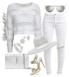 Untitled #1365 by fashionkill21 on Polyvore featuring polyvore fashion style Helmut Lang FiveUnits Christian Louboutin Yves Saint Laurent Hermès Marquee Jewels Janessa Leone clothing