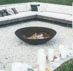 Firepit at The Grove Byron Bay