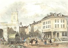 Market Square and Dr Johnsons Birthplace