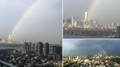 Rainbow over WTC day before 14th anniversary