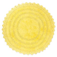 Add a luxurious and stylish touch to your bathroom decor with the Design Imports Crochet Round Bath Mat. Crafted of plush cotton, this reversible bath mat is not only comfortable, but quick-drying too. Irresistible ribbed and woven texture. Bath Linens, Bath Rugs, Bathroom Rugs, Bathroom Flooring, Small Bathroom, Bathrooms, Crochet Round, Cotton Crochet, Bath Decor
