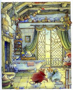 :: Sweet Illustrated Storytime :: Illustration by Jil Barklem :: The Secret Staircase