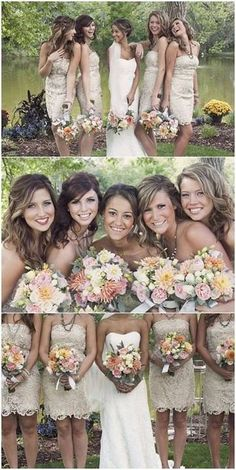 Would love these bridesmaid dresses even more if they weren't strapless.