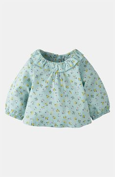 Mini Boden 'Pretty' Woven Top (Infant) available at #Nordstrom    Spring Fever for baby girl shopping!